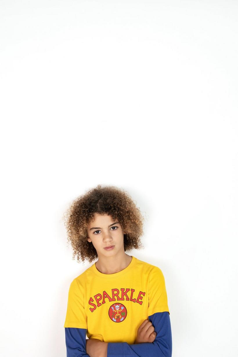 T-shirt à manches longues - jaune et bleu, ZulupaPUWA - ZulupaPUWA